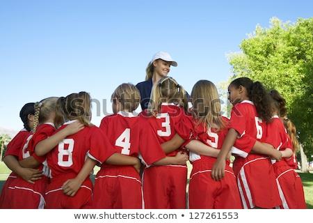 Sportok edző stúdiófelvétel fehér érzelem kaukázusi Stock fotó © nickp37