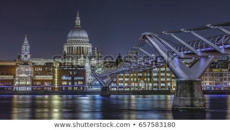 UK British Flag and St Pauls Cathedral Stock photo © chrisdorney