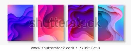 Soyut renkli dalga broşür vektör ofis Stok fotoğraf © rioillustrator
