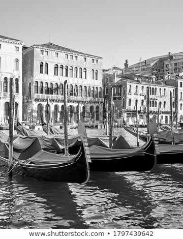 Vertical view of Grand Canal with gondolas Stock photo © vwalakte