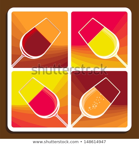 Wine collage showing different varieties Stock photo © Porteador