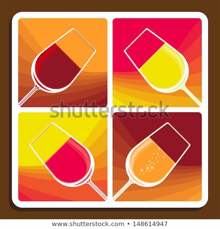 vin · collage · différent · quatre · illustrations - photo stock © Porteador
