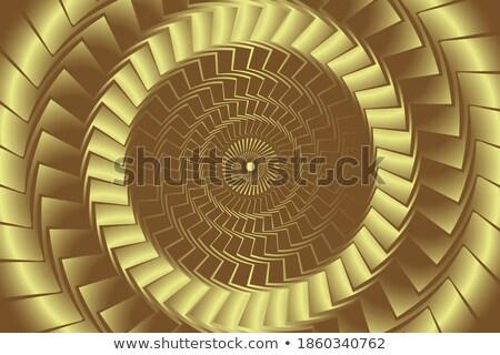 Dourado hipnótico círculos ouro roxo Foto stock © ArenaCreative