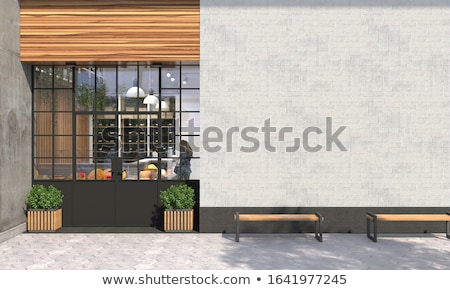 Elevated view of cafe Stock photo © zzve