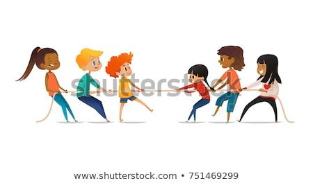 cara · pintado · crianças · ilustração · menina · crianças - foto stock © zzve