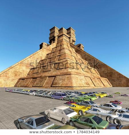 Voiture pyramide bois jouets bois rétro Photo stock © ekapanova