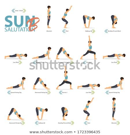 Back stretch yoga beauty woman Stock photo © phakimata