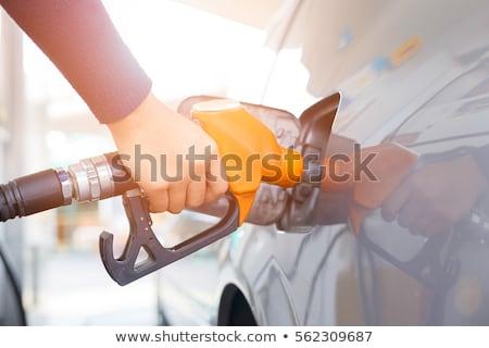 АЗС · насос · заполнение · бензина · зеленый · автомобилей - Сток-фото © fouroaks