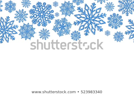 twinkling blue snowflake Stock photo © prill