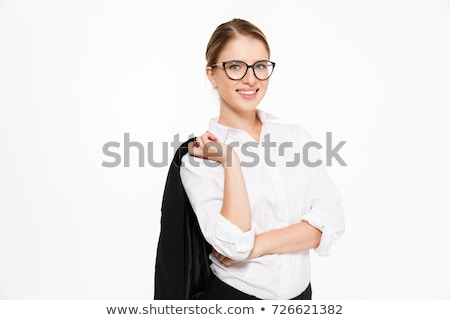 woman in a suit holding her glasses Stock photo © photography33