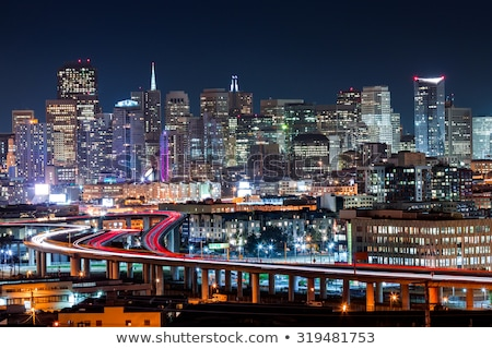 San Francisco city traffic in rush hour with downtown skyline Stock photo © lunamarina
