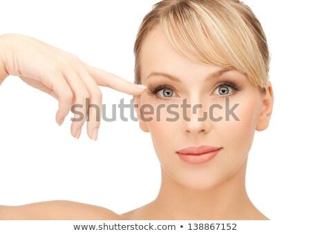 gyönyörű · nő · megérint · szem · fürdő · szépség · arc - stock fotó © dolgachov