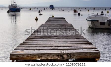 öreg fából készült dokk tó Stock fotó © trala