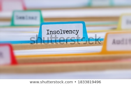 folder with the label insolvency stock photo © zerbor