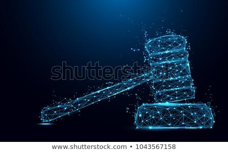 Justice Concept on Triangle Background. Stock photo © tashatuvango
