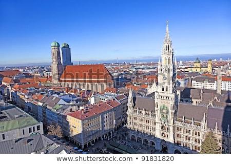 Aéreo Munich hermosa tiempo edificio iglesia Foto stock © meinzahn
