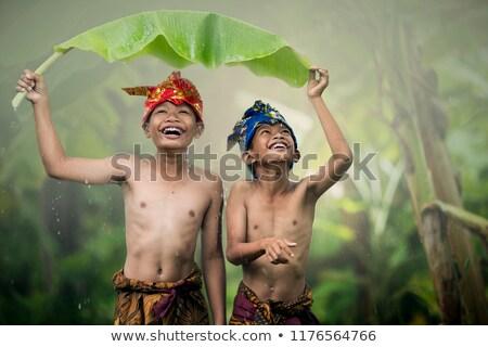 Children in Bali playing Stock photo © Komar