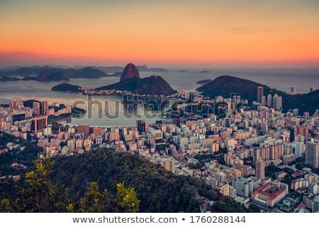 Naplemente Rio de Janeiro délután csónak Amerika Rio Stock fotó © epstock