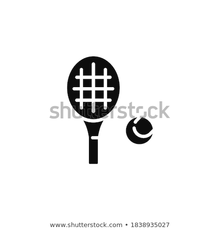 Tenis bate dibujado a mano Cartoon boceto ilustración Foto stock © perysty