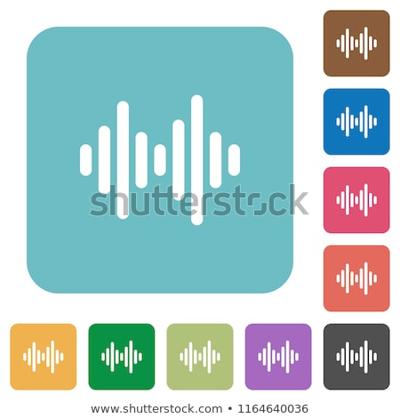 flat rounded square icons stock photo © simo988