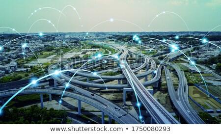 Szállítás ipari út városi ipar gyár Stock fotó © vrvalerian
