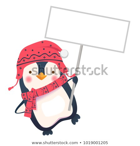 Penguin Holding Sign Stock photo © Lightsource