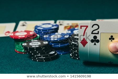 şanssız poker oyuncular fotoğraf erkekler oynama Stok fotoğraf © sumners