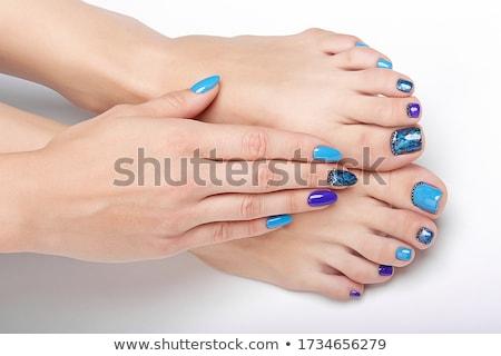 Schilderij teen nagels vrouw Rood vrouwelijke Stockfoto © gemenacom