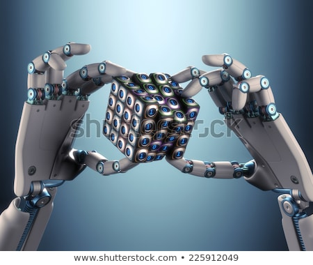 Binary Cube Logical Processing Stock photo © idesign
