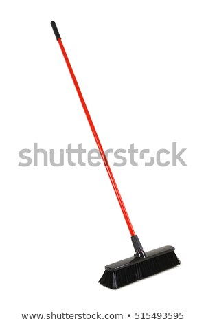 Czerwony gospodarstwo domowe plastikowe szczotki biały pracy Zdjęcia stock © dezign56
