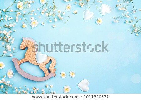 Family rocking rocker horse Stock photo © Kzenon