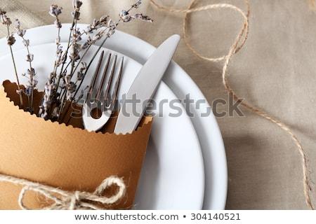 keurig · eettafel · eerste · persoon · perspectief - stockfoto © hofmeester