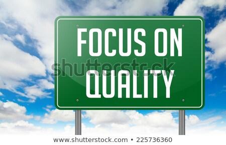 フォーカス 品質 道路 道標 ビジネス 道路 ストックフォト © tashatuvango