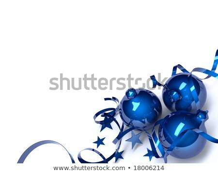 színes · karácsony · üveg · golyók · izolált · fehér - stock fotó © serp