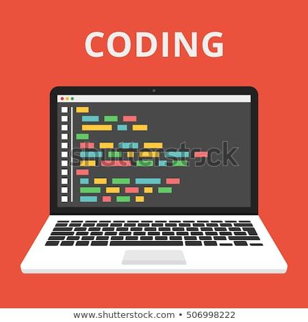 источник Код сайт пер интернет технологий Сток-фото © bdspn
