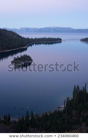 保護された エメラルド 島 湖 太陽 ストックフォト © cboswell