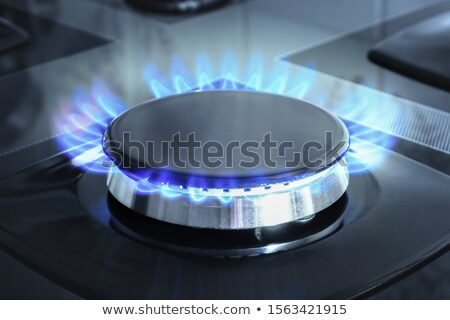gas stove blue flame Stock photo © zkruger