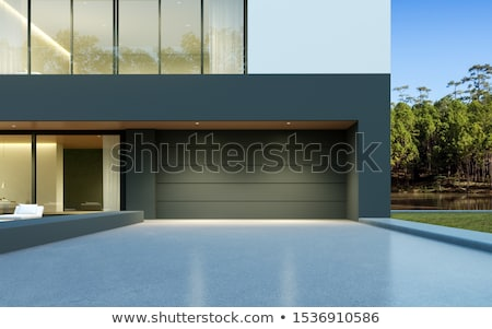 estilo · moderno · Villa · moderna · casa · naturaleza - foto stock © alexandre_zveiger