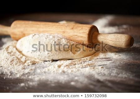 麺棒 ピザ チーズ オリーブ ボード 調理 ストックフォト © M-studio