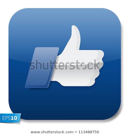 Trusted Link Blue Vector Icon Button Stock photo © rizwanali3d