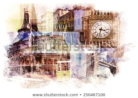 multiple exposures of different italian landmarks Stock photo © nito