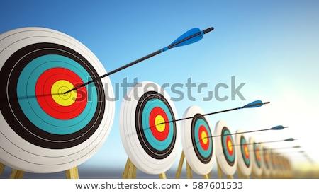Consultazione frecce rosso target tre impiccagione Foto d'archivio © tashatuvango