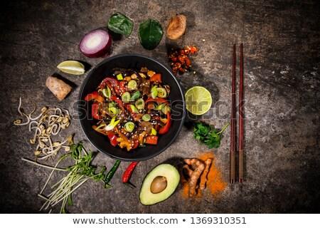 China heerlijk rundvlees voedsel chili restaurant Stockfoto © wxin