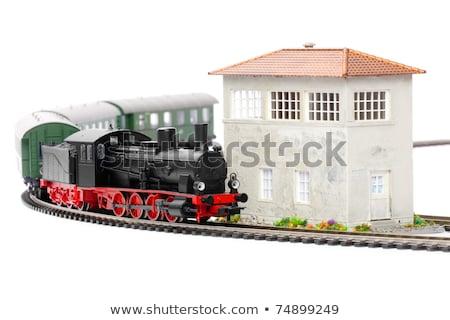 Foto d'archivio: Modello · stazione · ferroviaria · britannico · rurale · frazione · poco · profondo
