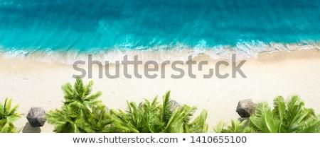 mavi · soyut · su · yüzeyi · üst · görmek · dalgalar - stok fotoğraf © sarymsakov