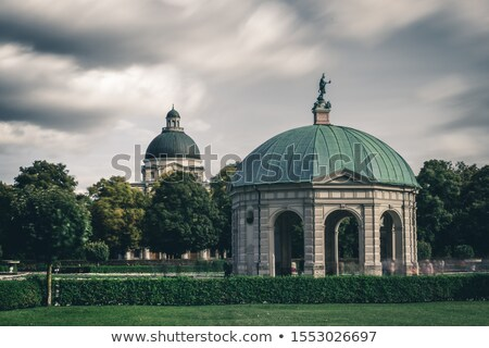 German park in Munchen with Dianatempel Stock photo © ifeelstock