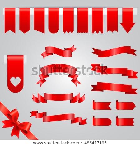hearts and ribbons border fancy stock photo © irisangel
