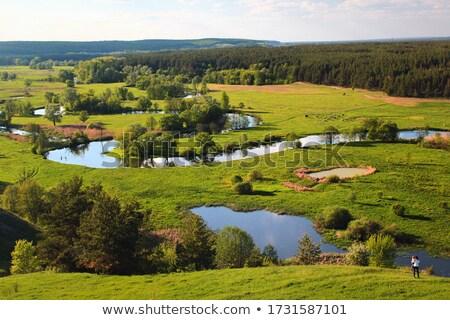 seversky donets river landscape stock photo © oleksandro