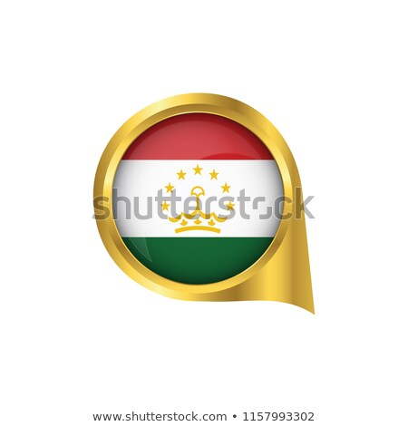 оранжевый кнопки изображение карт Таджикистан форме Сток-фото © mayboro
