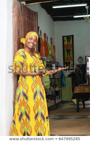 African woman welcoming Stock photo © HASLOO